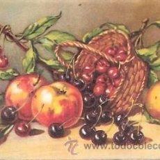 Postales: POSTAL ANTIGUA DE FLORES Y FRUTAS - EDICIONES COLON. Lote 25374690