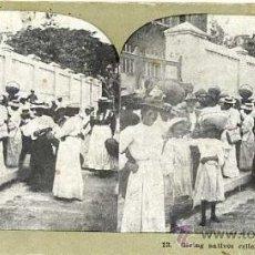 Postales: ANTIGUA VISTA ESTEREOSCÓPICA - NATIVOS DE JAMAICA. Lote 25528348