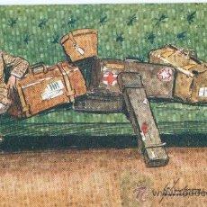 Postales: CABALLERO COMPLETO DE EQUIPAJE. DIBUJO. POSTAL INGLESA, COLOR, C. 1915. SIN CIRCULAR.. Lote 26051250