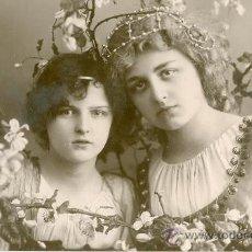 Postales: ADOLESCENCIA SERENA. POSTAL ALEMANA, BRILLO, C. 1920. Lote 26051383