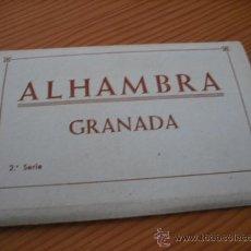 Postales: LA ALHAMBRA DE GRANADA (10 POSTALES UNIDAS EN BLANCO Y NEGRO). Lote 26482614