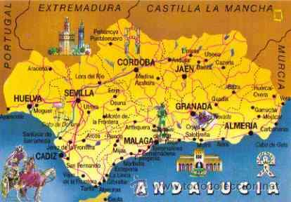 Mapa De Andalucia Espaa  My blog