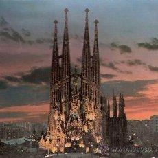 Postales: POSTALES DE ESPAÑA - BARCELONA - SAGRADA FAMILIA - MEDIDAS 21 X 15 CM.. Lote 27363954