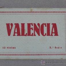 Postales: LIBRILLO CON 12 VISTAS DE VALENCIA EN TARJETA POSTAL. MUY ANTIGUO. ( ). Lote 27383850