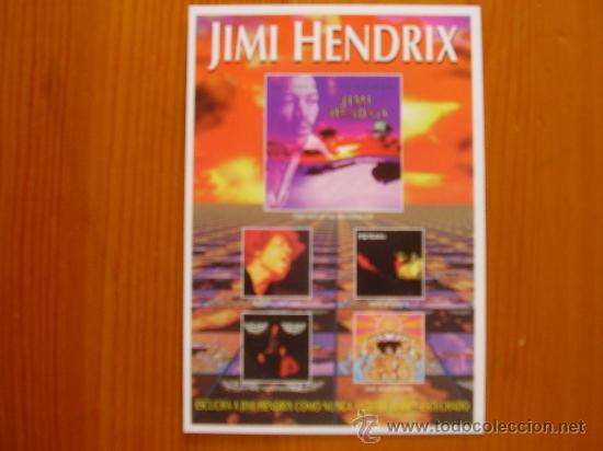 POSTAL DE MÚSICA DE JIMI HENDRIX (1997) ¡NUEVA! (Postales - Varios)