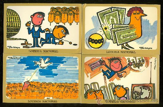 LOTE DE 12 POSTALES. LOTERIA NACIONAL 1977. (Postales - Varios)