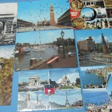 Postales: LOTE DE 12 POSTALES DE VENECIA, GIBRALTAR,AMSTERDAN, PARIS, POMPEYA, BAVARIA ETC. Lote 28073383