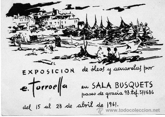 EXPOSICIÓN SALA BUSQUETS E.TORROELLA 1961 (Postales - Varios)
