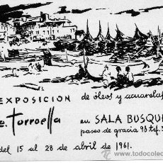 Postales: EXPOSICIÓN SALA BUSQUETS E.TORROELLA 1961. Lote 28273616