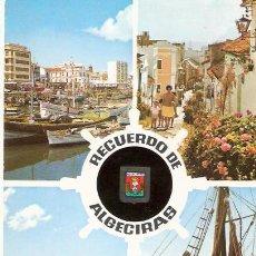 Postales: TARJETA POSTAL. CADIZ. ALGECIRAS. VISTA PARCIAL DEL PUERTO Y CALLE TIPICA. Nº 27. A. SUBIRATS.. Lote 28626014