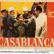 Postales: CASABLANCA CON HUMPHREY BOGART E INGRID BERGAMAN NUEVA SIN CIRCULAR . Lote 28958139
