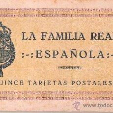 Postales: LA FAMILIA REAL ESPAÑOLA - BLOCK 15 POSTALES COMPLETO-GRAFOS- VER FOTOS ADICIONALES - (B-66). Lote 28989322