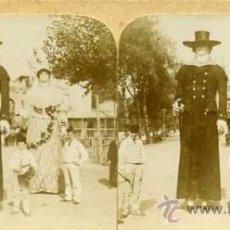 Postales: ESTEREOSCÓPICA BARCELONA GIGANTES - CASA DE CARIDAD. Lote 29215782