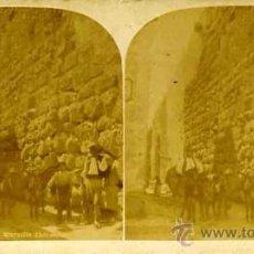 Postales: ESTEREOSCÓPICA TARRAGONA MURALLA ROMANA. Lote 29215815