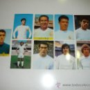 Postales: 9 POSTALES JUGADORES DEL REAL MADRID AÑOS 60 70 GENTO SANCHIS JUNQUERA URIA PIRRI JENSEN GUERINI PE. Lote 30389599