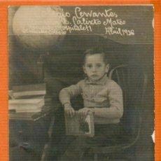 Postales: POSTAL ORIGINAL ANTIGUA ALUMNO COLEGIO CERVANTES HOSPITALET - AÑO 1916. Lote 30419376