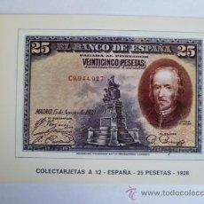Postales: POSTAL; COLECTARJETAS, A 12 - ESPAÑA - 25 PESETAS - 1928, NO CIRCULADA.. Lote 31029946