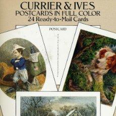 Postales: CURRIER & IVES. POSTCARDS IN FULL COLOR (BONITAS POSTALES ANTIGUAS). Lote 32217462