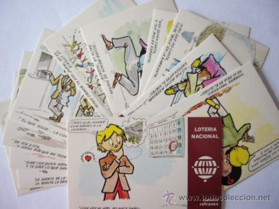 LOTERIA NACIONAL 12 POSTALES SERIE K. REFRANES (Postales - Varios)