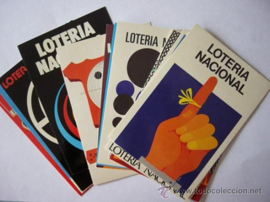 LOTERIA NACIONAL 12 POSTALES SERIE IA. CARTELES (Postales - Varios)