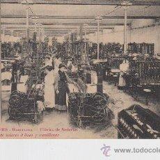 Cartoline: POSTAL - PUIG Y WIECHERS - BARCELONA - FÁBRICA DE SEDERIAS SECCION DE TELARES Á LISOS Y CANILLERAS. Lote 32665423