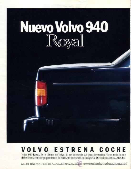 PUBLICIDAD PRENSA 1991 - VOLVO 940 (2 PGS.) / CORTE INGLES / BLANCO Y NEGRO - COCHE PRENSA -FOTO ADI (Postales - Varios)