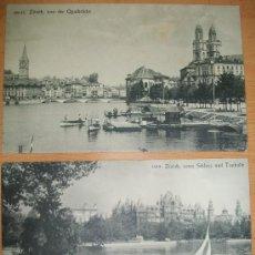 Postales: POSTALES (2 POSTALES DE ZURICH). Lote 33101652
