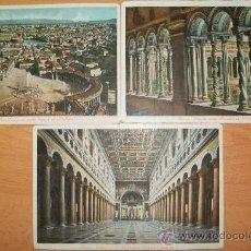 Postales: POSTALES (3 POSTALES DE ROMA). Lote 33125220