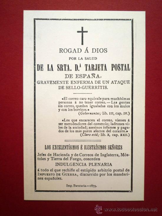 Tarjeta postal satirica en forma de esquela f n comprar for Esquelas funeraria el mueble melide