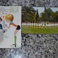 Postales: PAR DE POSTALES DE LOS AÑOS 70. UNA DE LAS MAJORETTES DE FRANCIA Y LA OTRA DE AMOR.. Lote 33620563