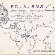 Postales: L'AMETLLA DEL VALLÉS. TARJETA POSTAL DE RADIO AFICIONADO. Lote 33655022