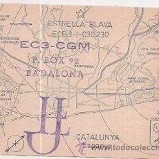 Postales: BADALONA. TARJETA POSTAL DE RADIO AFICIONADO. Lote 33679371