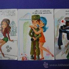 Postales: LOTE DE 3 BONITAS POSTALES DE MILITARES. Lote 33861255