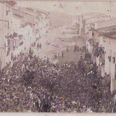 Postales: ANTIGUA POSTAL MITIN GARCIA BERLANGA Y EMILIO CASTELAR ESCRITA 1908 . Lote 33968748