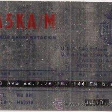 Postales: TARJETA POSTAL DE RADIOAFICIONADO. VALENCIA. Lote 34019447