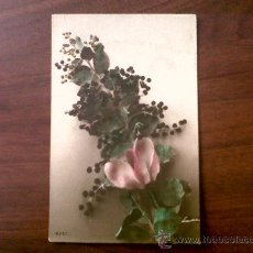 Postales: POSTAL FLORES ESCRITA 1916. Lote 34459824