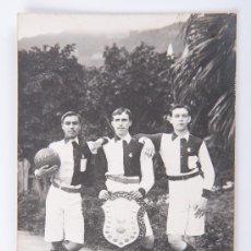 Postales: POSTAL DE JUGADORES, FOTOGRAFIA EN BLANCO Y NEGRO. Lote 34967695