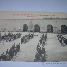Postales: ANTIGUA POSTAL....FIGUERAS..CASTILLO PENAL...FORMACION DE PENADOS.. Lote 35396925