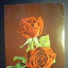Postales: 2741 FLOR FLORES FLOWER FLOWERS ROSA ROSE POSTCARD POSTAL AÑOS 60/70 ESCRITA - TENGO MAS POSTALES. Lote 36225921