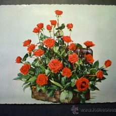 Postales: 2743 FLOR FLORES FLOWER FLOWERS ROSA ROSE POSTCARD POSTAL AÑOS 60 ESCRITA - TENGO MAS POSTALES. Lote 36226031
