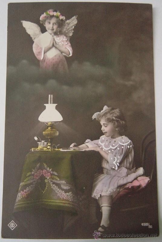 POSTAL ROMÁNTICA, AÑO 1916 (Postales - Varios)
