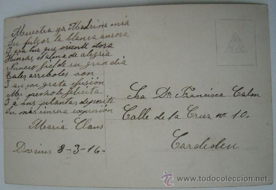 Postales: Postal romántica, año 1916 - Foto 2 - 36445505