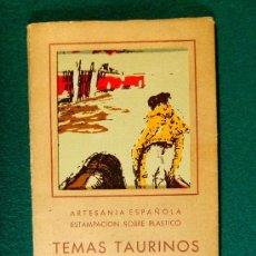 Postales: TEMAS TAURINOS - TOROS - 10 POSTALES ESTAMPADAS SOBRE PLASTICO - ALCALDE MOLINERO - AÑOS 1940/1950 ?. Lote 36800584