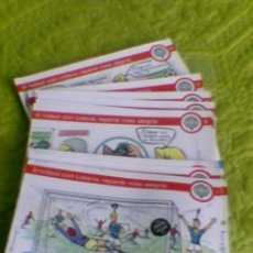 Postales: SERIE COMPLETA Q 12 POSTALES LOTERIA Y FUTBOL 1981 (B25). Lote 37359814