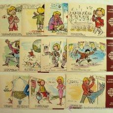 Postales: COLECCION DE 12 POSTALES DE LA LOTERIA NACIONAL. NUEVOS REFRANES 1979.. Lote 38439822