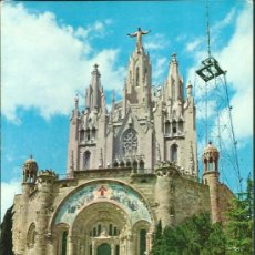 Postales: POSTAL BARCELONA, TEMPLO EXPIATORIO DEL TIBIDABO, SIN CIRCULAR. Lote 39093098