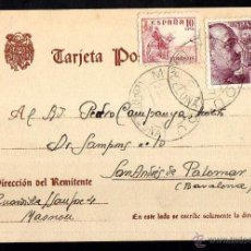 Postales: TARJETA POSTAL CIRCULADA. . Lote 39338381