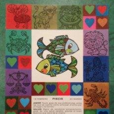 Cartes Postales: ZODÍACO PISCIS - Z12 - PAGSA, COLECCIÓN PERLA - DISEÑO POP/ART - EN . Lote 39351616