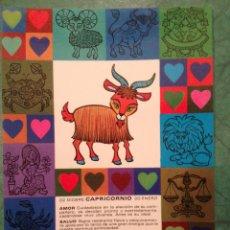 Cartes Postales: ZODÍACO CAPRICORNIO - Z10 - PAGSA, COLECCIÓN PERLA - DISEÑO POP/ART - EN . Lote 39351628