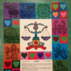 Cartes Postales: ZODÍACO LIBRA - Z7 - PAGSA, COLECCIÓN PERLA - DISEÑO POP/ART - EN . Lote 39351649